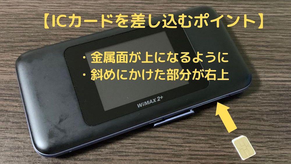 WiMAXのSIMカードの向き