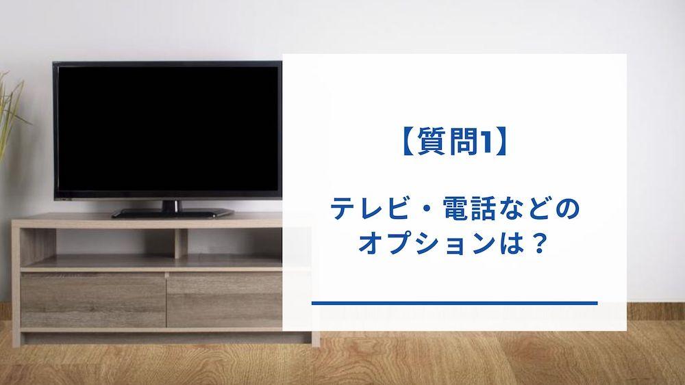 テレビや電話オプション