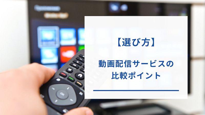 動画配信サービスの選び方・比較ポイント